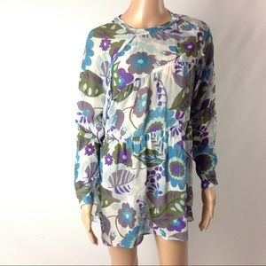 Reformation Women Blouse Tunic Floral Tiered XS
